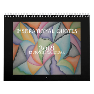 Colorful Abstract Art Inspirational  2018 Calendar