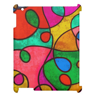 Colorful abstract art iPad case