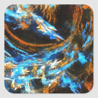 Colorful Abstract Art No 4 Square Sticker