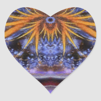 Colorful Abstract Art No 5 Heart Stickers