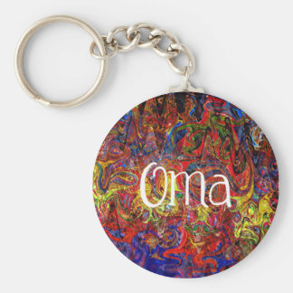 Colorful Abstract Art Oma Key Ring