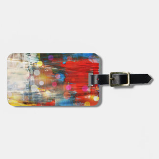 Colorful Abstract Art Paint Splatters Design Luggage Tag