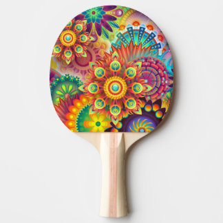 Colorful Abstract Art Ping Pong Paddle