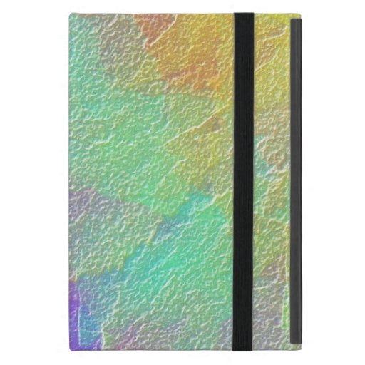 Colorful Abstract Art Simulated Textured Glass Case For iPad Mini
