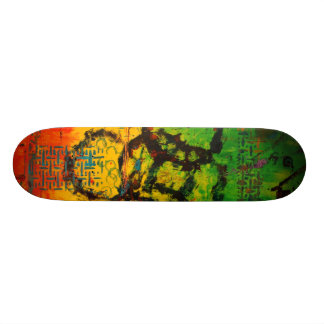Colorful Abstract Art Skateboard