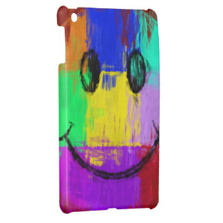 Colorful Abstract Art Smiley Face Cover For The iPad Mini