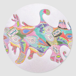 Colorful Abstract Art Stickers