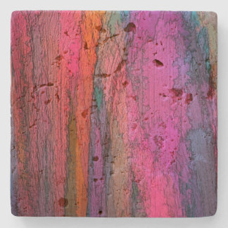 Colorful Abstract Art Stone Coaster