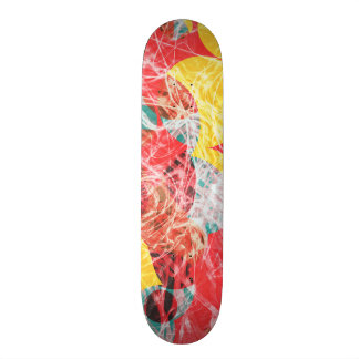 Colorful abstract artwork 20 cm skateboard deck