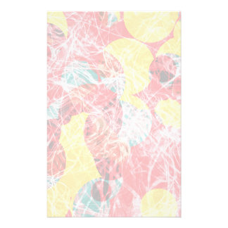 Colorful abstract artwork personalised stationery