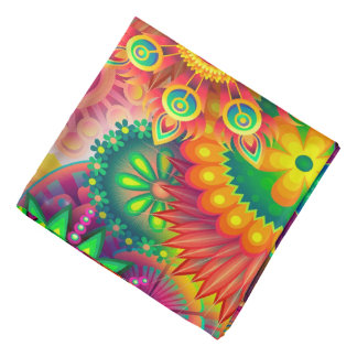 Colorful Abstract Background Bandana