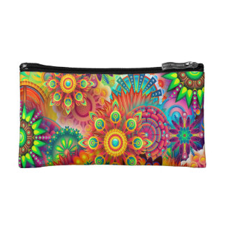 Colorful Abstract Background Cosmetics Bags