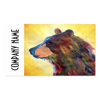 Colorful Abstract Bear Art Pack Of Standard Business Cards