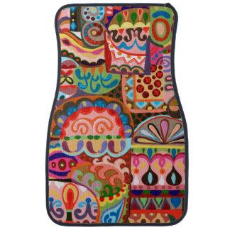 Colorful Abstract Car Mats - Set of 2 Front Mats