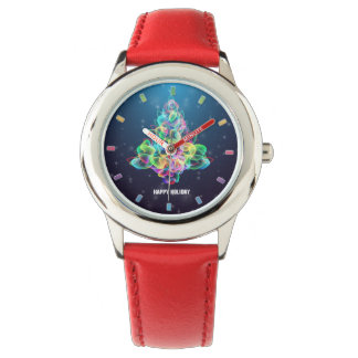 Colorful Abstract Christmas Tree Kid's Watch