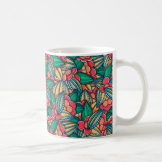 Colorful abstract Cocoa beans illustrated pattern Coffee Mug