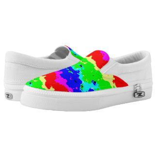 Colorful Abstract Collage Print Shoes Printed Shoes