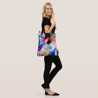 Colorful Abstract Color Marble Swirls Tote Bag