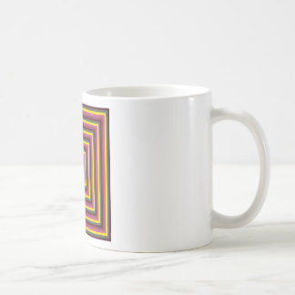 Colorful Abstract Concentric Square  Pattern Coffee Mug