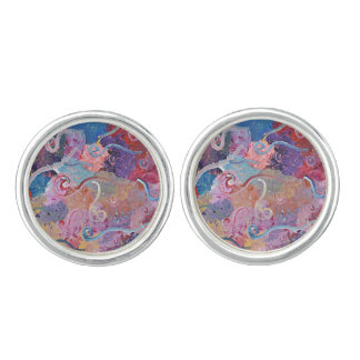 Colorful Abstract Cuff Link