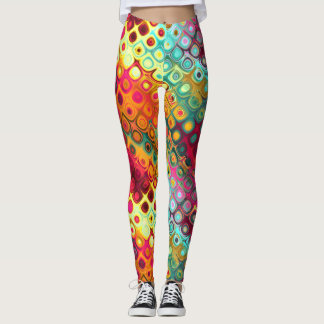 Colorful abstract daydreams leggings