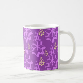Colorful Abstract Decorative Christmas Trees Coffee Mugs