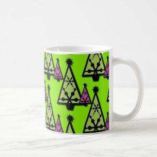 Colorful Abstract Decorative Christmas Trees Coffee Mug