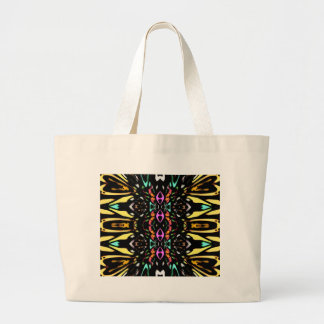 Colorful Abstract Design Digital Pattern Art Canvas Bags