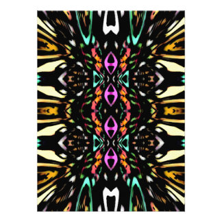 Colorful Abstract Design Digital Pattern Art Personalized Invitation