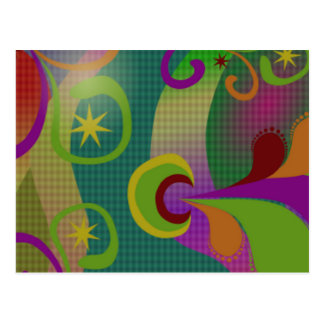Colorful Abstract Design Postcard