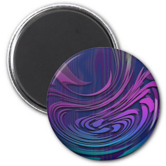 Colorful Abstract Digital Art Magnet