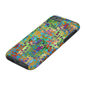 Colorful Abstract Digital Art with Squares Tough iPhone 6 Case