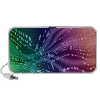 Colorful Abstract Doodle Travel Speakers