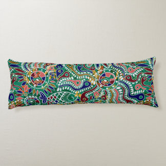Colorful Abstract Doodling Pattern Body Pillow