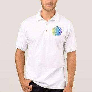 Colorful abstract ethnic floral mandala design polo shirt