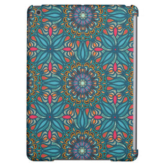 Colorful abstract ethnic floral mandala pattern