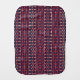 Colorful abstract ethnic floral mandala pattern burp cloth