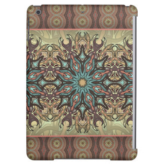 Colorful abstract ethnic floral mandala pattern case for iPad air