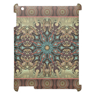 Colorful abstract ethnic floral mandala pattern case for the iPad 2 3 4