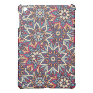Colorful abstract ethnic floral mandala pattern case for the iPad mini