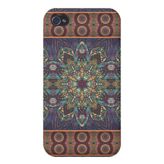 Colorful abstract ethnic floral mandala pattern case for the iPhone 4