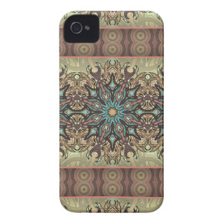 Colorful abstract ethnic floral mandala pattern Case-Mate iPhone 4 case