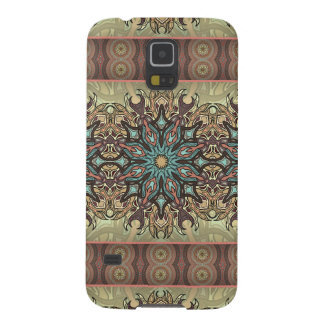 Colorful abstract ethnic floral mandala pattern cases for galaxy s5
