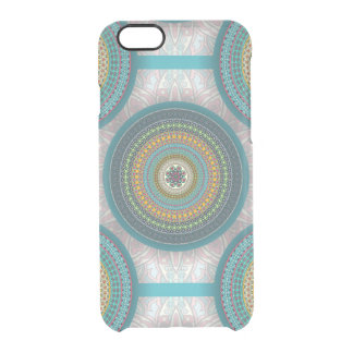 Colorful abstract ethnic floral mandala pattern clear iPhone 6/6S case