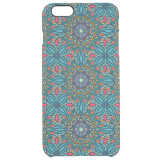 Colorful abstract ethnic floral mandala pattern clear iPhone 6 plus case