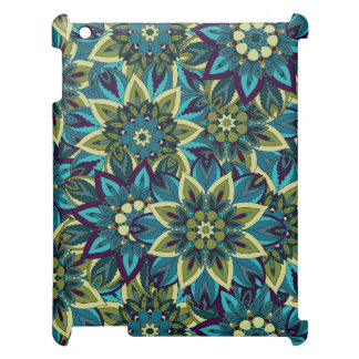 Colorful abstract ethnic floral mandala pattern cover for the iPad