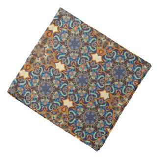 Colorful abstract ethnic floral mandala pattern de bandana