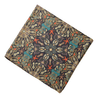 Colorful abstract ethnic floral mandala pattern de bandana