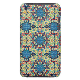 Colorful abstract ethnic floral mandala pattern de barely there iPod case