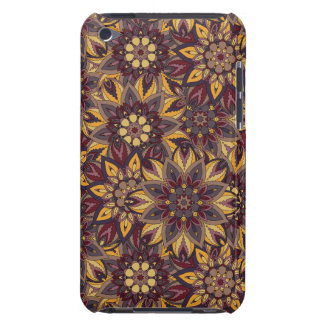 Colorful abstract ethnic floral mandala pattern de barely there iPod covers